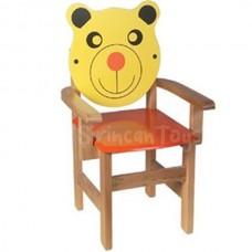 Ayı Figürlü Kolçaklı Çocuk Sandalyesi